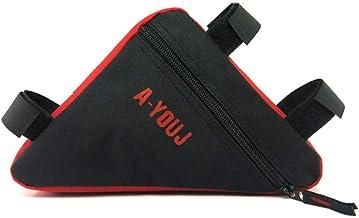 Lixada دراجة الجبهة سرج أنبوب الإطار الحقيبة حامل حقيبة دراجة مثلثة مقاومة للماء حقيبة تخزين خارجية
