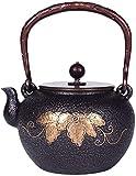 YANAN-dian Teteras/Café 1000 ml Tetera de Hierro Fundido Antiguo, artesanía de Esmalte Tetera de té de Hierro Fundido, Interior-Recubierto de Esmalte Tetera Resistente al Calor