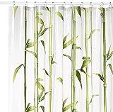 Kleine Wolke 5249625305 Duschvorhang Bambú, 180 x 200 cm, maigrün