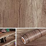 Livelynine 15.8X394 In Kitchen Cabinet Contact Paper Adhsive Waterproof Rustic Wood Wallpaper Peel And Stick Farmhouse Bathroom Decor Faux Wood Grain Vinyl Wrap For Furniture Cabinet Desk Shelf Floors