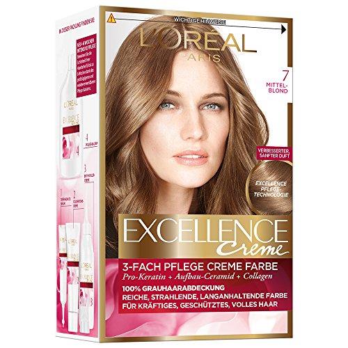 L'Oréal Paris Excellence Creme Coloration, 7 - Mittelblond