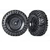 Traxxas 8273 TRX-4 1.9 Inch Tires and Wheels - Assembled - Glued (Tactical Wh