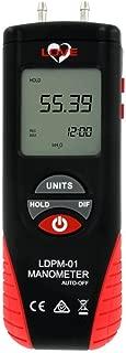 Love LDPM-01 Digital Differential Pressure Manometer, 11 Selectable Pressure Units, Range +/- 55.4
