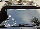 White 6' Snoopy Love Car Decal - Vinyl Car Sticker Window Decal