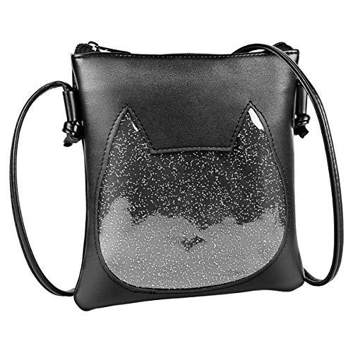 Adjustable Zipper Small Clear Cute Cat Cross-body Ita Bag