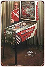 Bally Pinball Elton John Captain Fantastic Ad Reproduction Metal Sign 8 x 12