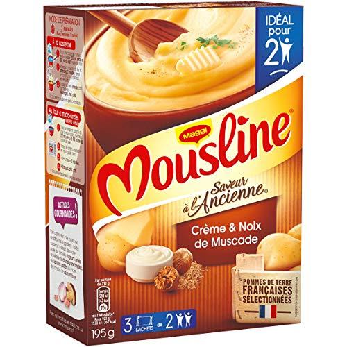Mousline Purée Saveur à l'Ancienne Crème Muscade 3 sachets pour 2 personnes (3x65g)