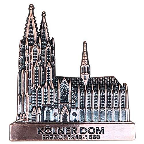 I LOVE KÖLN Kühlschrankmagnet aus Metall, stark, Kölner Dom Magnet als Deko für Kühlschrank, Magnettafel, Magnetwand