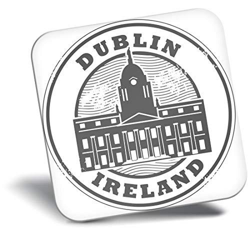 Destination Vinyl ltd Awesome Imán para nevera bw - Dublín Irlanda Arquitectura de Viaje Irlanda #39905