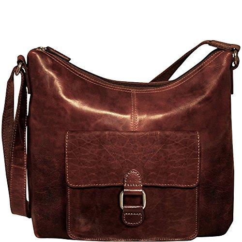 Jack Georges Voyager Collection Hobo Bag 7614 Brown