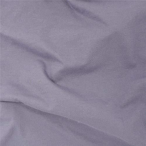 TELIO Organic Cotton Jersey Knit Grey Fabric by The Yard