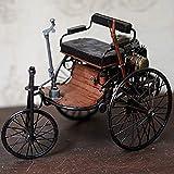 KKD Escala Modelo Simulación Vehículo Triciclo retro del coche modelo de...