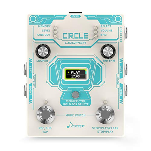 Donner Loop Effect Pedal, Circle Looper 40 Slots...