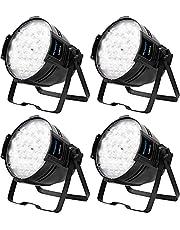BETOPPER 54 LED Par Light Super Bright DMX-512 DJ Stage Light White/Off White Lighting 5000 Lumens for Theater,Studio,Photostudio,Home Decoration,Party,Church Event,Wedding etc.(4 Packs)