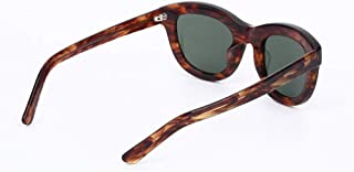 New Women's Stylish HD Sunglasses UV400 Pretection Polarized Light CR39 Lens Panel Frame Unisex Brown (Color : Brown)