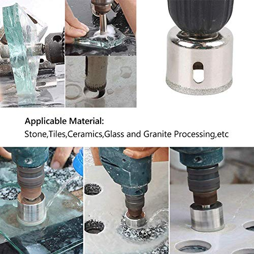 Diamond Drill Bit Set Hole, 15PCS Hole Saw Set for Glass, Marble, Granite Stone