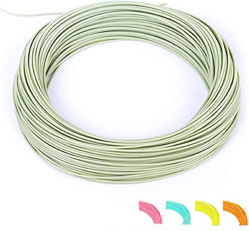 MAXIMUMCATCH Fliegenschnur für Forelle Weight Forward Schwimmende Fliegenfischen Schnur 5 Farbe in 1F-10F (Moss grün, WF4F)