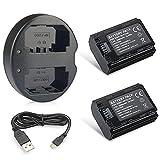 Expresstech @ 2X Reemplazo batería NP-FZ100 FZ100 NPFZ100 2280mAh + USB Cargador para Sony Alpha a9 7R III a7 III a7R3 a73