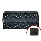 GINVF Kofferraumtaschen Auto Kofferraum Aufbewahrungsbox Multifunktions Falten Aufbewahrungsbox Finishing Box Senden Sie Die Gleiche Kleine Finishing Box (Color : Grid 2)