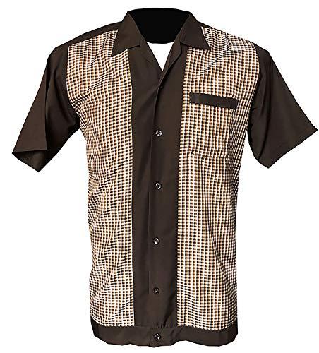 1950s/1960s Rockabilly, Bowling, Retro, Vintage Camisa para Hombre Bro