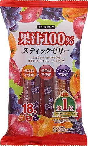 リボン 18本 果汁100% スティックゼリー ×12袋