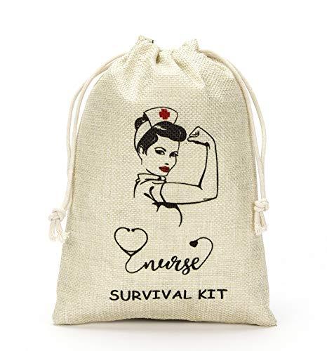 Nurse RN Party Nurse Graduation Party Gift Bags-Graduation Gift for Nurse,Survival Kit Bags for Nurse,Present for Nurse- Set of 10