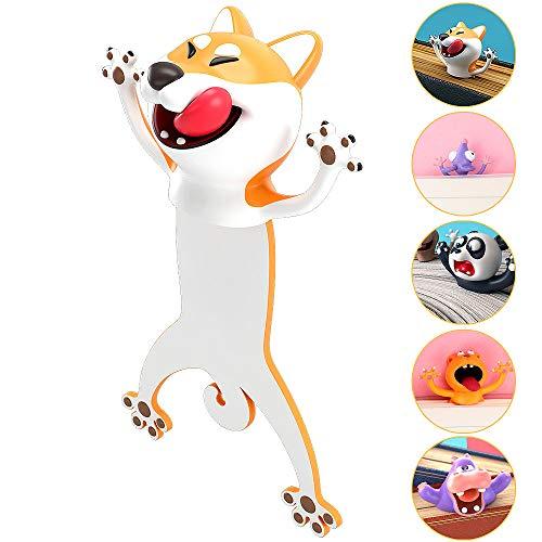 Segnalibro,Animale Segnalibro,3D Cartone Animato Animale Segnalibro, Materiale PVC Divertente Cancelleria per Bambini a Scuola o Regalo per Studenti