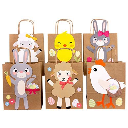Papierdrachen 6 Osternester für Kinder mit Schafen Hasen und Küken - Ostergeschenke für Kinder und Erwachsene - DIY Osterdeko - Ostern 2021