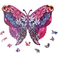 Topsthink Magic Butterfly Shape Wooden Jigsaw Puzzles
