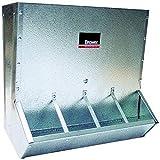 Brower 18 CF Galvanized Steel Small Animal Feeder