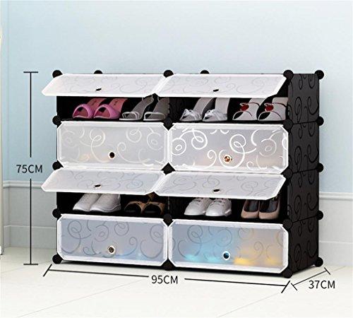Chaussure Simple Economique Anti-poussière Creative Multi-étages Assemblage De Moderne Simple Rack en Plastique (Taille : 75 * 95 * 37 Cm)