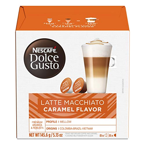 Nescafe Dolce Gusto Coffee Pods, Cappuccino, 16 capsules, Pack of 3