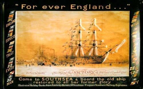 signs-unique Forever England HMS Victory Southsea geprägtes Stahlschild (hi 3020)