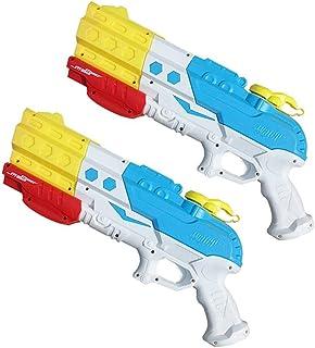 Squirt Gun,Hamkaw Newest 4 Nozzles Foam Bath Toys Soaker 1200cc Long Range Water Guns Water Pistol Blaster Summer Outdoor Pool Beach Water Shooter Toys for Kids Toddlers Boys Girls Adults
