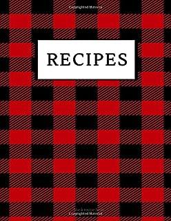 recipe book blank