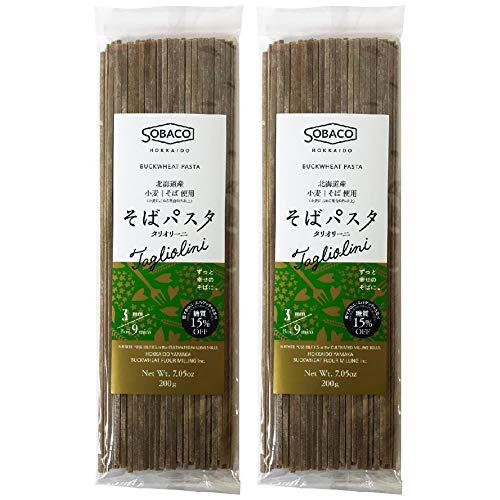北海道産小麦粉 そば粉使用 そばパスタ タリオリーニ 3.0mm ×2個