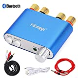 S800 Mini Stereo Amplifier 50Wx2 Bass Bluetooth Receiver, DC 9-24V 12V Mini BT 4.0 Home & Car Audio Dual Channel Amplifier, HIFI Wireless Receiver Amp Ampli Module with EMI Filter Blue