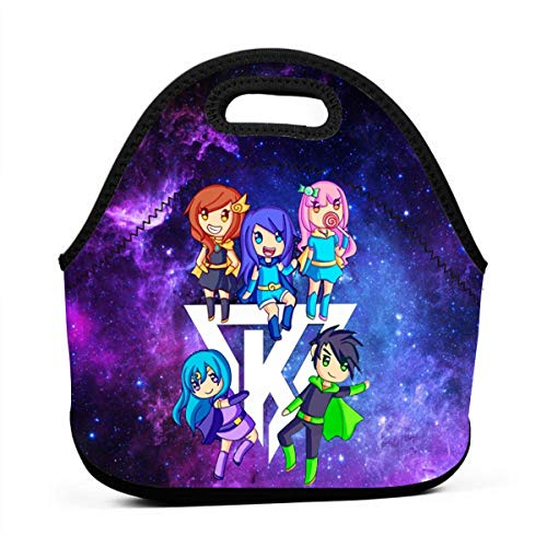Kids Men Womens Neoprene Insulated Lunch Bag,The Krew Its-Funneh Waterproof Durable Lunchbag lunchboxes,Anime Resuable Leak-Proof Lunch Box for Nurse Teacher Teens,Bento Lunch Boxes Best Gift