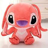 35/45 cm Kawaii Stitch Plush Doll Toys Anime Lilo y Stitch Stich Peluches para niños Almohada para niños Regalo de cumpleaños Lindo 35cm Rojo