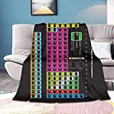Gandharva Periodic Table Blanket Comfort Soft Warm Throw Blanket for Sofa Chair Bed Office Air Conditioning Blanket Flannel Plush Blanket for Adult 80x60in