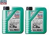 Práctico Set. 2x 1l Liqui Moly universalöl para 4takt Jardín dispositivos Motores aceite SAE 10W de 30para de gasolina y diésel de 4tiempos Motores