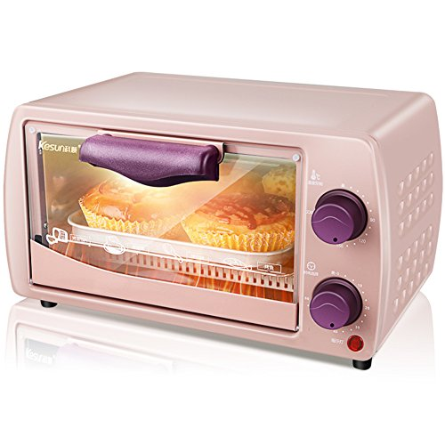 DULPLAY 9L Toaster Oven,Mini,Best Convection,Digital Dining,Includes Broil Rack,Countertop Oven Digital Polished Stainless Toast Home Kitchen-pink 34x22x21cm(13x9x8inch)