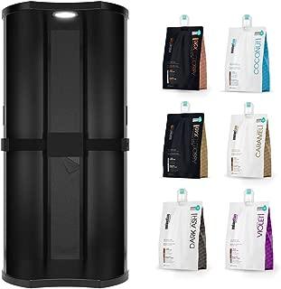 MineTan Overspray & Extraction Spray Tan Booth - Includes 6 x Spray Tan Solutions, 202.8 fl oz