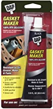 Dap 00686 Gasket 100% Rtv Silicone 2 Raw Building Material, Black