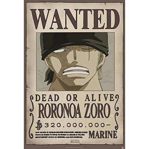ABYstyle One Piece Poster « Wanted Zoro » (91,5 x 61)
