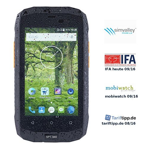 simvalley MOBILE Dual-SIM-Outdoor-Smartphone, LTE, 4