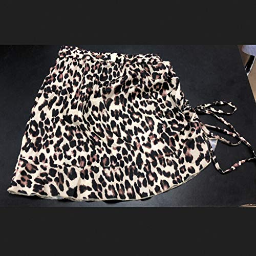 QBXDQ Kurzer Rock Damen Minirock Leopardenmuster Hohe Taille Lady Rock Mode Cocktail Kurze Röcke Frauen