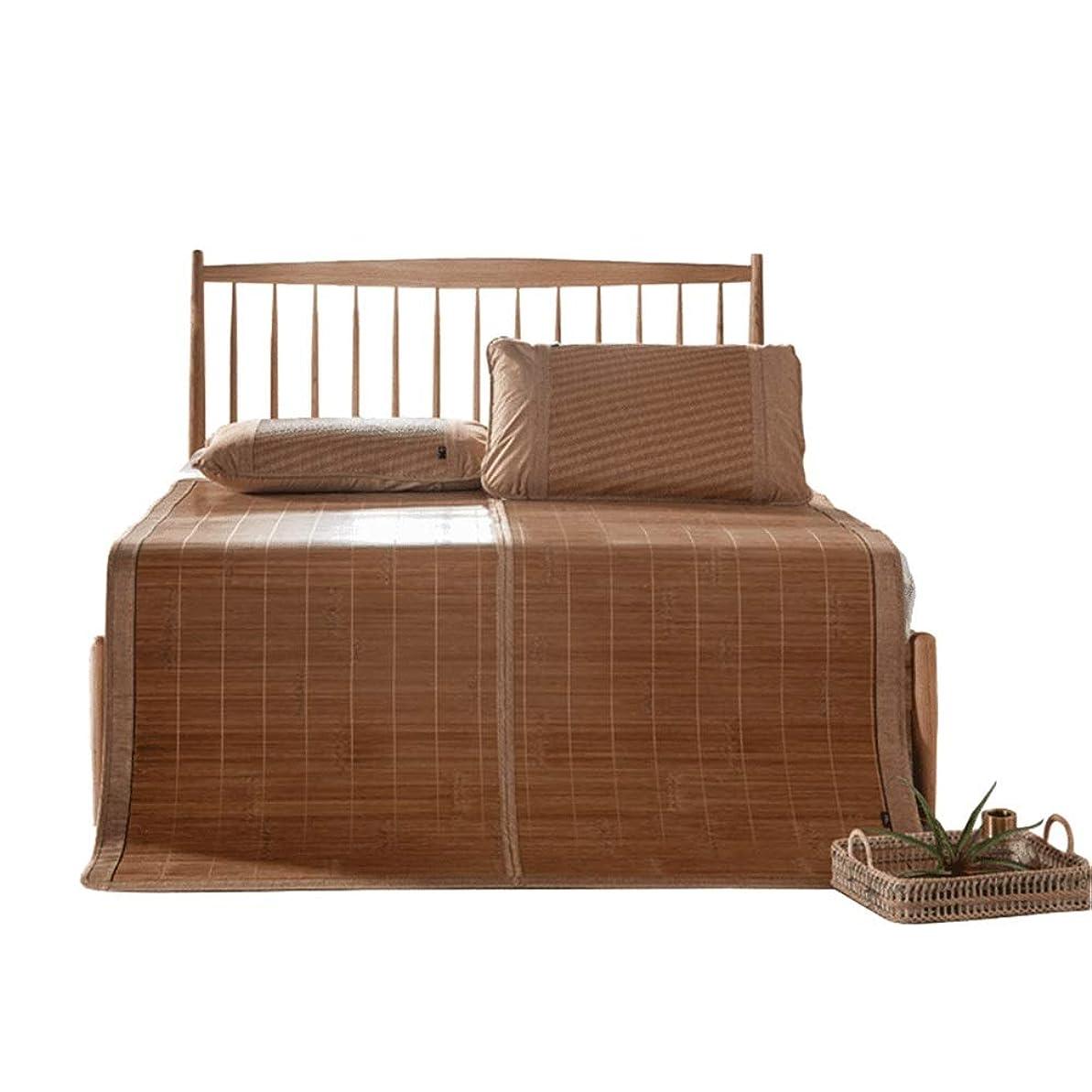 肩をすくめるアルカトラズ島ロマンチックQL サマーマットレス 夏の睡眠マット - 夏のマット、竹マットダブル、両面の睡眠マット、クールなベッド夏の寝具、折りたたみ式収納 から選択可能 竹製マットレス (Size : 120x195cm)