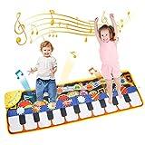 TENOL Klaviermatte für Kinder Spielzeug ab 1 2 3 4 Jahre Mädchen Geburtstags Geschenke für Jungen Musikmatte Kinder ab 5 6 7 Jahr...