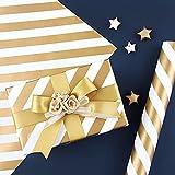 Younoo1 - Papel de embalaje navideño, 50 x 70 cm, papel de regalo para cumpleaños, vacaciones, boda, regalo de nacimiento